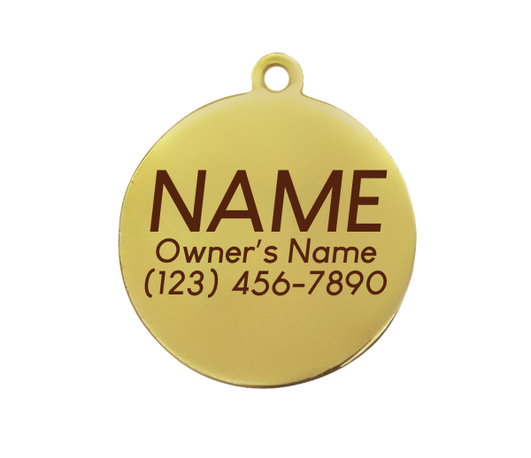 back of round id tag engraved