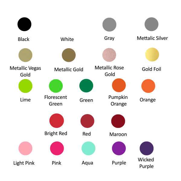 color chart for personalization