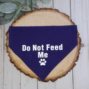 Do Not Feed Dog Bandana