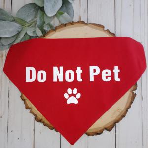 Do Not Pet Red Dog Bandana