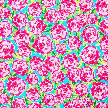 Pink Rosey Posey Fabric Swatch
